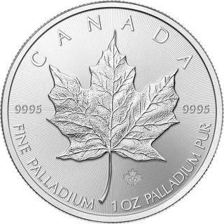 1 Oz 2015 Canadian Maple Leaf Palladium Coin photo