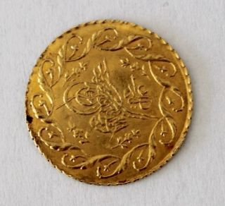 Ottoman Turkey Gold Mahmud Ii Ah 1223 Year 28 - 1 Cedid Mahmudiye - Konstantine photo
