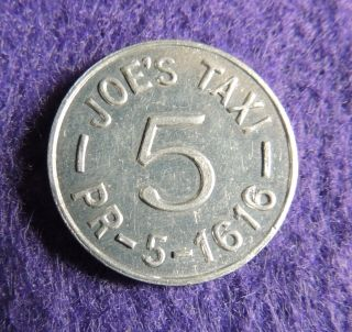 Joe ' S Taxi,  Elmont N.  Y.  Transit Token photo