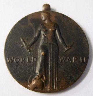 World War Ii Bronze Victory Medal Hk 910 So Called Dollar 1941 - 1945 Freedom photo