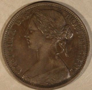 1863 Great Britain Penny  U.  S. photo