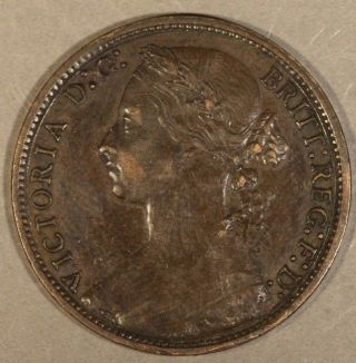 1877 Great Britain Penny Large Date U.  S. photo
