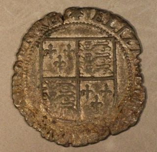 (1601) Nd Ireland Shilling Silver Elizabeth I,  U.  S. photo