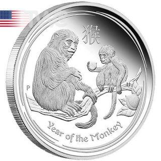 2016-P Australia 1 oz Silver Lunar Year Monkey King Colorized with OGP /& COA