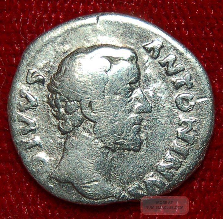 Roman Empire Coin Antoninus Pius Eagle On Reverse Silver
