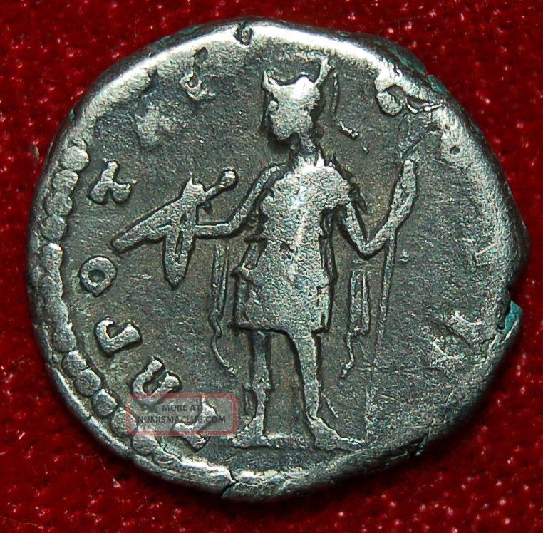 Roman Empire Coin Marcus Aurelius Virtus With Spear On