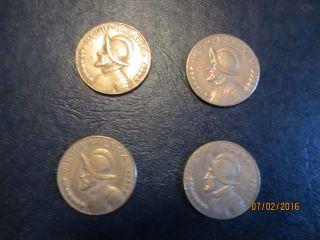 2) 1979 - - - 2) 1982 Republic Of Panama Balboas photo