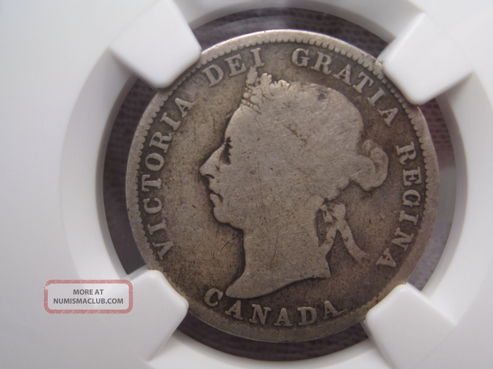 1890 H Canadian Twenty - Five Cent Quarter.  25c.  Canada.  Ngc G6 Coins: Canada photo