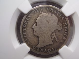 1890 H Canadian Twenty - Five Cent Quarter.  25c.  Canada.  Ngc G6 photo