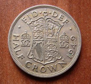 Half Crown 1949.  British Coin.  Great Britain.  George Vi.  Km 879.  B1336 photo