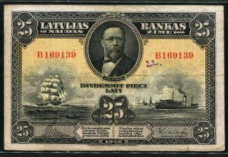 Latvia 1929,  25 Latu,  169139,  P18 photo