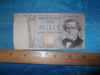 Banca D' Italia – Bank Of Italy 1000 Mille Lire Banknote Italian Currency - Italy photo
