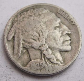 1925 F Buffalo Nickel Bn620 photo