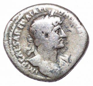 Authentic Hadrian Roman Coin,  Ar Silver Denarius,  Rv.  Salus - A500 photo