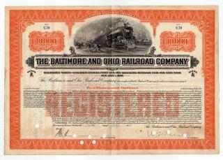 The Baltimore And Ohio Railroad Company Bond photo