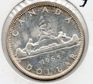 1965 Canada One Dollar Silver Piece Higher End Type Coin In Usa photo