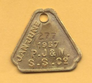 Manly Australia Ferry Boat Transportation Token Aus - 480 - Kd 277 photo