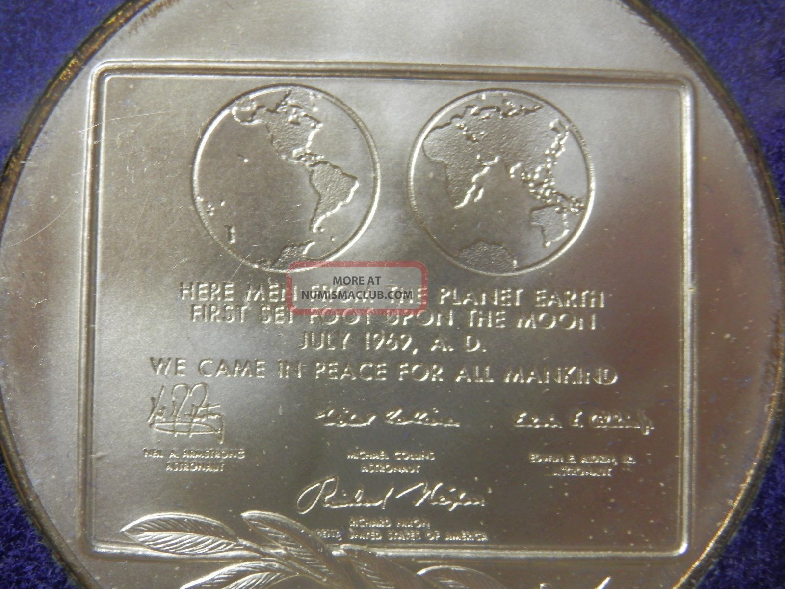 First Step On The Moon 1969, Solid Silver, Limited Edition Medal