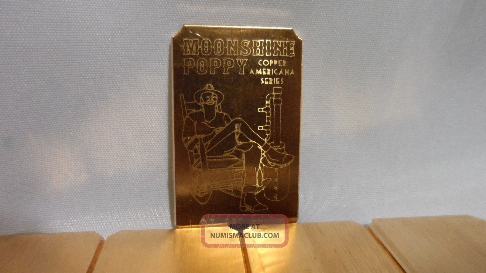 5 Oz Moonshine Poppy Cracker 999 Fine Copper Bullion Art