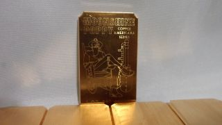 5 Oz.  Moonshine Poppy Cracker.  999 Fine Copper Bullion Art Bar Ingot photo