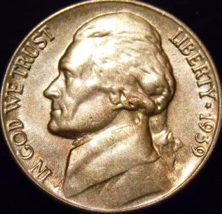 1939 - S Jefferson Nickel Gem Bu Full Steps Uncirculated photo