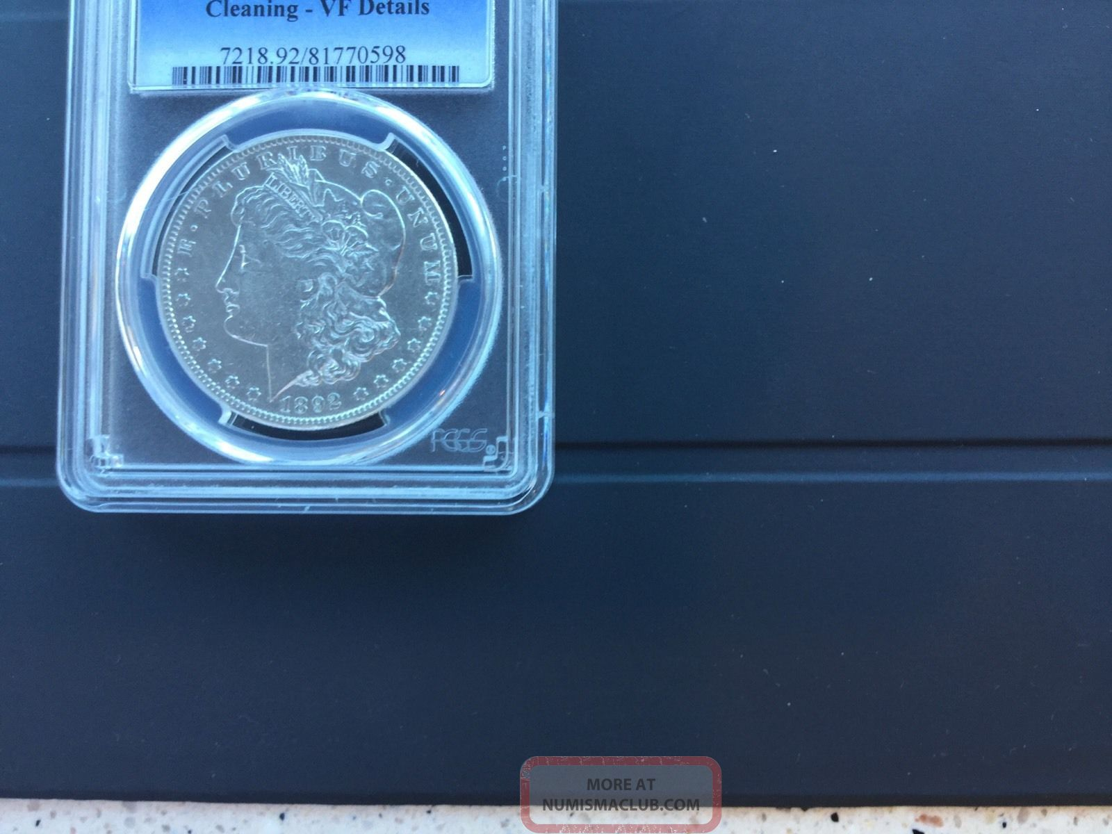 1892 - S Morgan Silver Dollar Anacs Vf Details - Cleaned Dollars photo