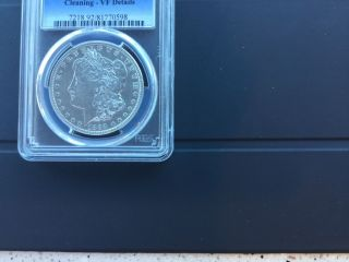 1892 - S Morgan Silver Dollar Anacs Vf Details - Cleaned photo