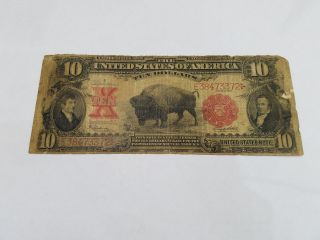 1901 Buffalo Large Size $10 United States Note Lewis & Clark - 3689 photo