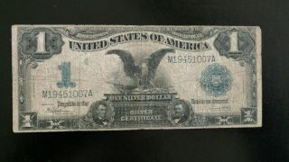 1899 $1 Silver Certificate Large Note Black Eagle One Dollar photo