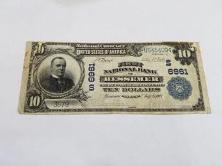 1902 Bessemer,  Alabama $10 Ten Dollar National Currency William Mckinley - 3690 photo