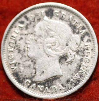 1901 Canada 5 Cents Silver Foreign Coin S/h photo