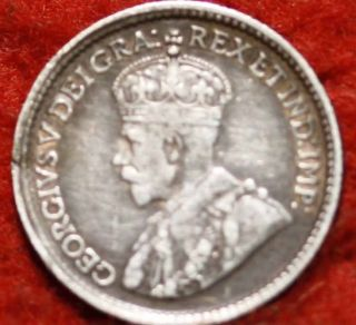 1919 Canada 5 Cents Silver Foreign Coin S/h photo