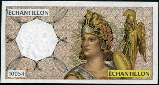 Bdf Échantillon ΑΤΗΙΝΑ 10054 Unc 79x148mm Test Note With Watermark photo