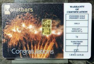 Merry Christmas In Assay Card 1//2 Gram .999 Fine 24k Gold Bullion Bar