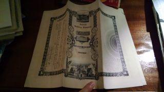 Antique Stock Certificate Signed Nov 1911 Astoria Building Corp.  $3,  000 Face Val photo