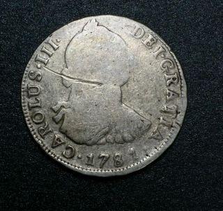 1781 P.  R.  ☆ Bolivia☆ 4 Reales Spanish Colonial Silver Coin Ferdinan Viii Potosi photo