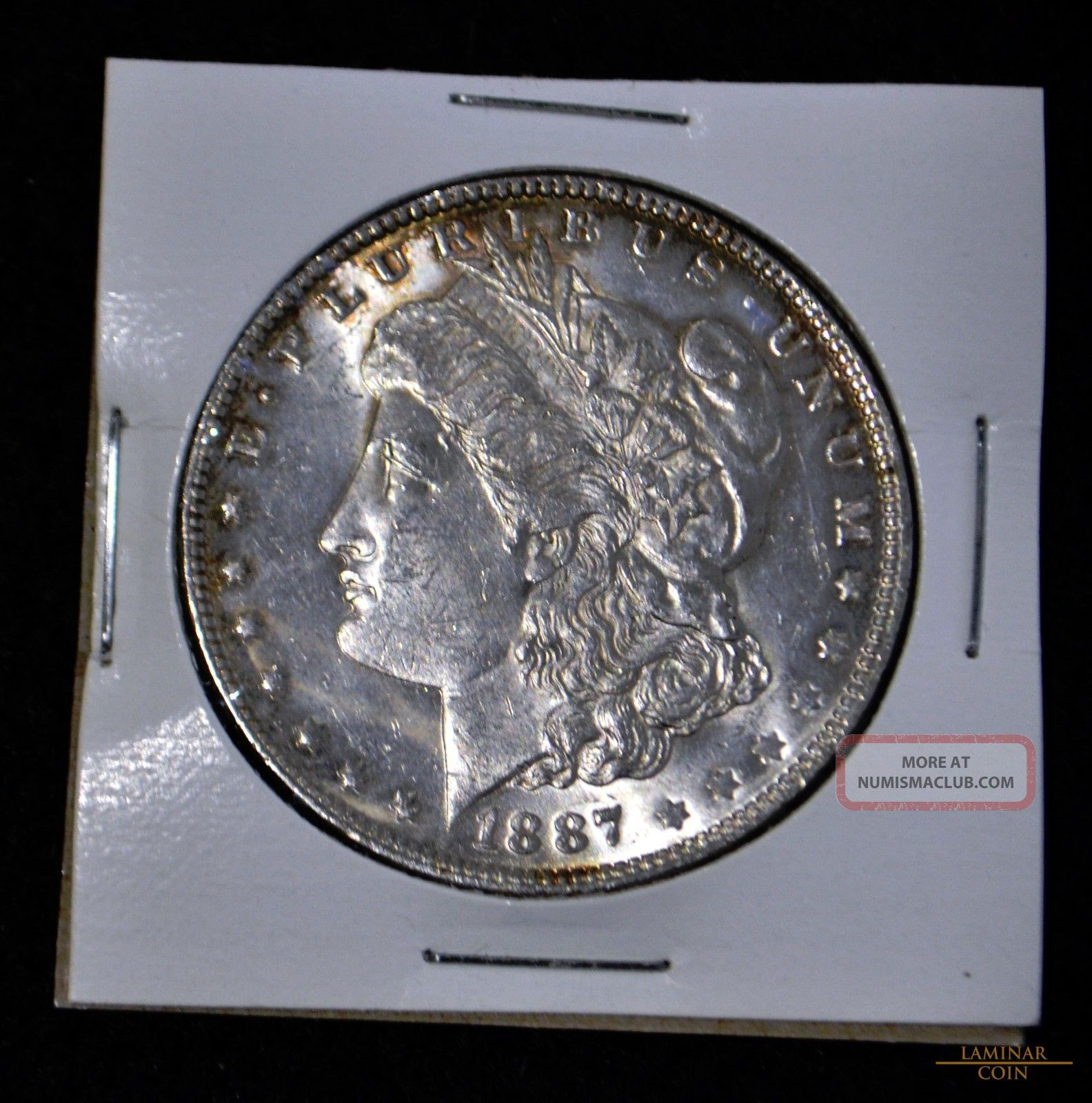 1887 $1 Morgan Silver Dollar,  Crisp And Lustrous,  Bu Dollars photo