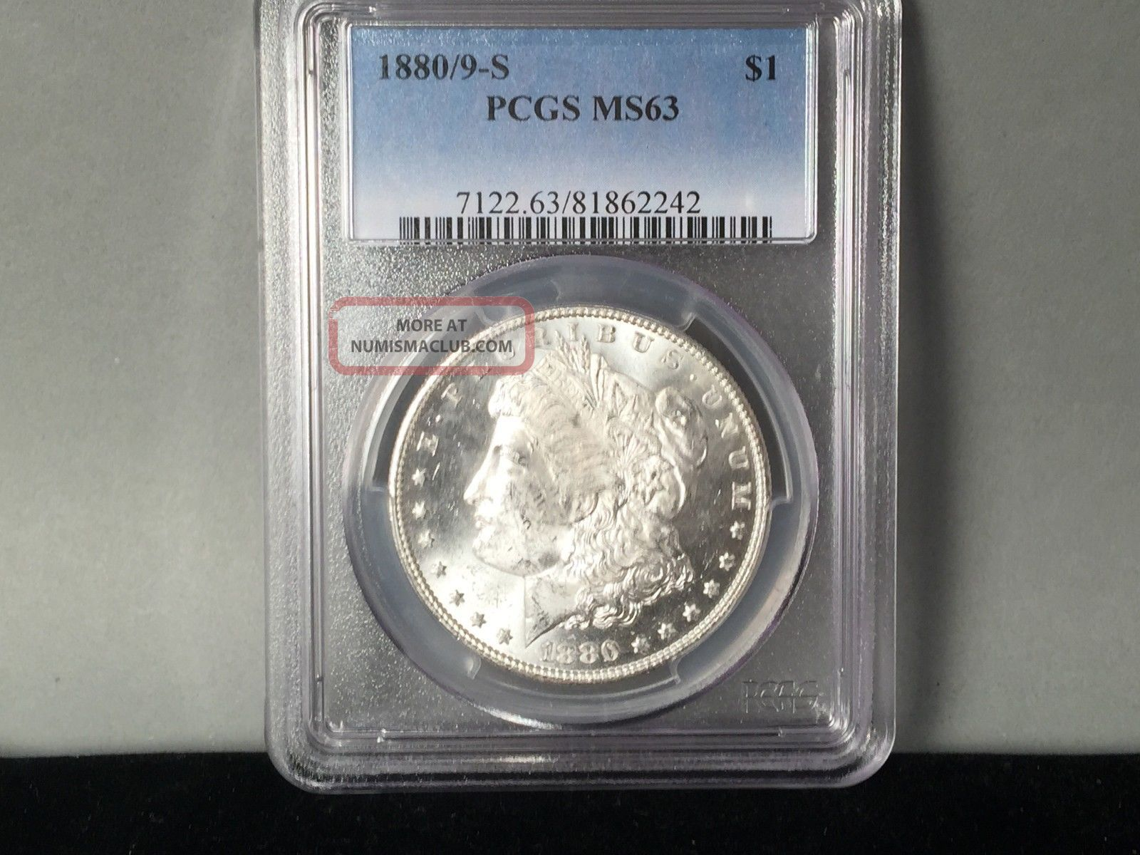 1880/9 - S Pcgs 64 Morgan Silver Dollar Blast White Dollars photo