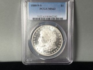 1880/9 - S Pcgs 64 Morgan Silver Dollar Blast White photo
