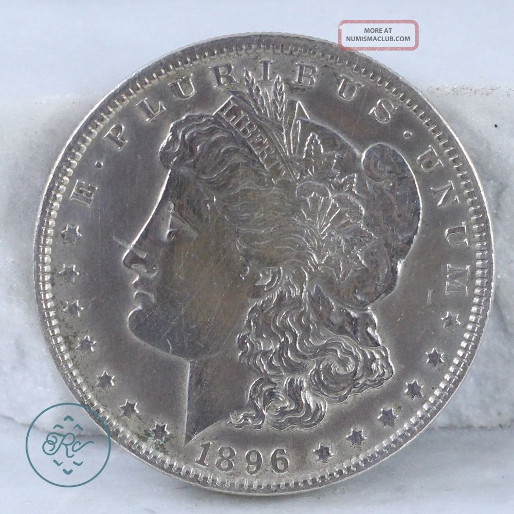 Vintage 900 Coin Silver - 1896 Us Morgan Dollar 26.  7g - Coin Dv0113 Dollars photo