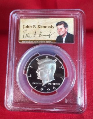 1996 - S Silver Kennedy Pr70 Dcam Pcgs Half Dollar 50c - Pf70 Ultra Cameo photo