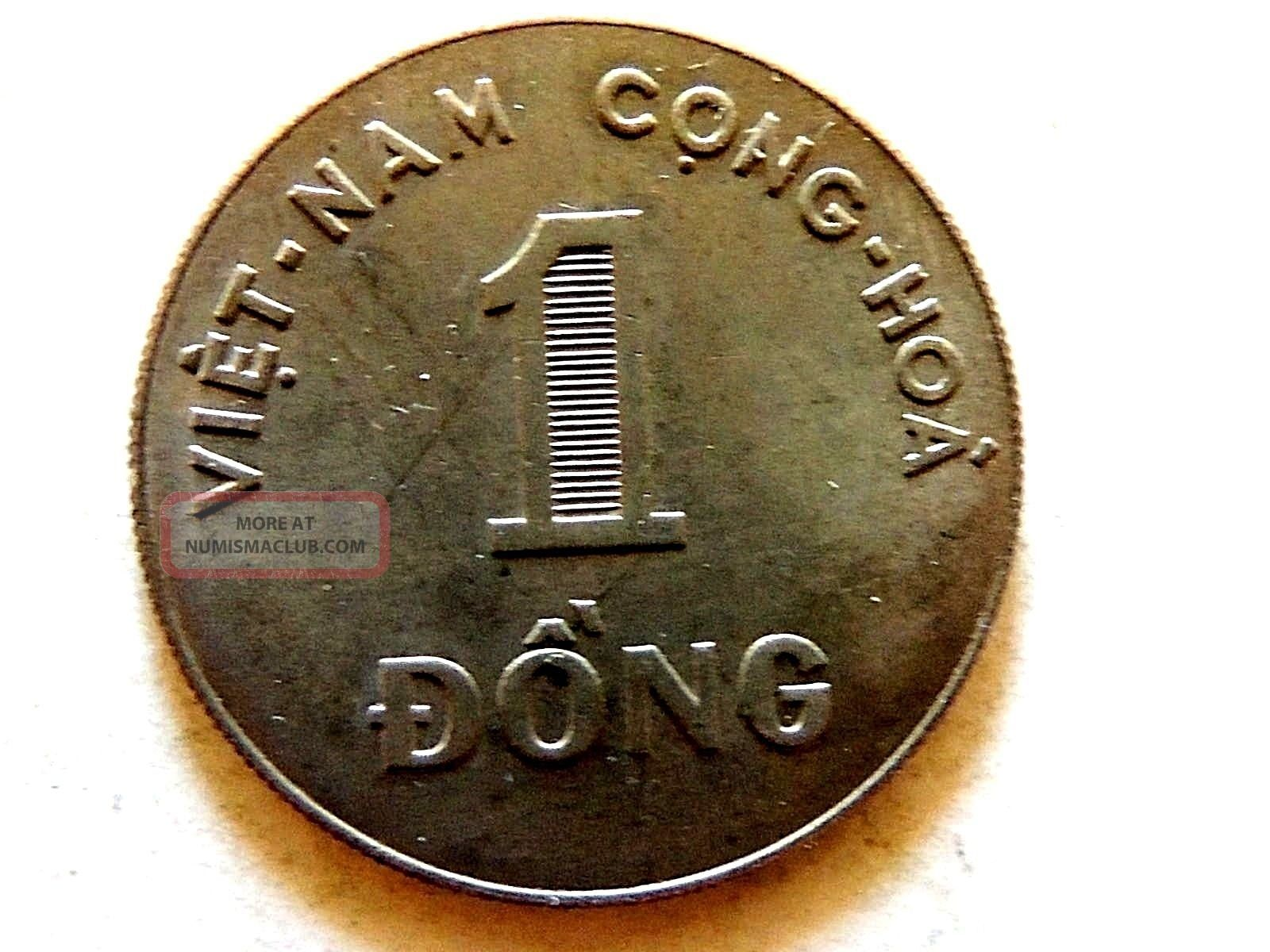 1964 South Vietnam One 1 Dong Coin