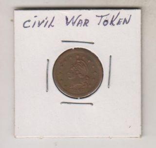 1863 Civil War Token - Wilson ' S Medal photo