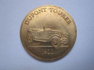 Dupont Tourer 1920 Antique Car Token Coin Medal photo
