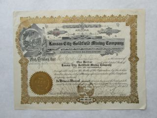Kansas City Goldfield Mining Company An Oregon Corporation photo