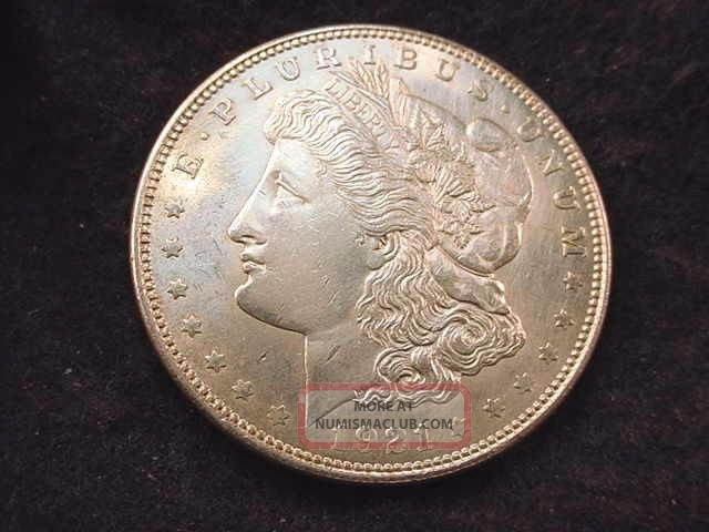 1921 Morgan Dollar Bu Dollar - - - 6001 Dollars photo
