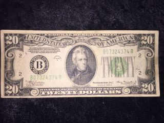 1934 A $20 Frn York York Block Bb (bb4374) photo