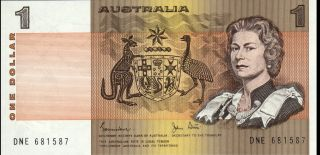 Australia - 1 Dollar - Nd (1982) - P42d (b210g) - Unc photo