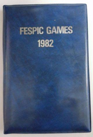 Hong Kong 1982 Fespic Disabled Games Commemorative Medallion 1 Oz Silver.  925 photo