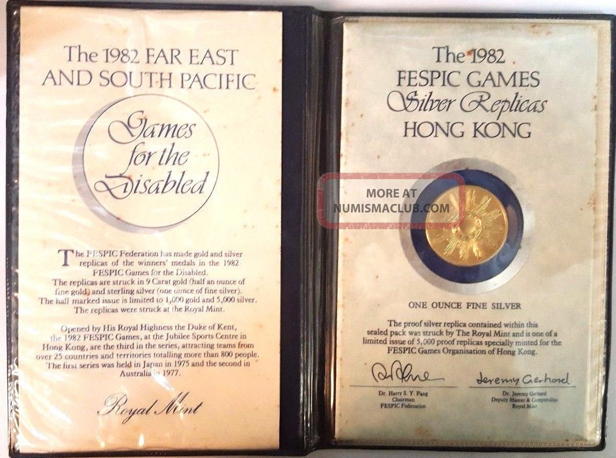 Hong Kong 1982 Fespic Disabled Games Commemorative